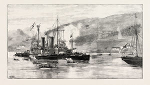 H.m.s. Howe Being Towed Into Ferrol Harbour