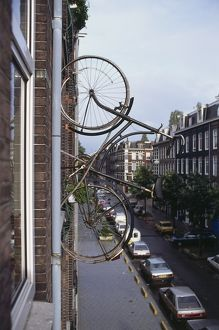Holland, Southern Amsterdam, the Van Ostade Bicycle Hotel.