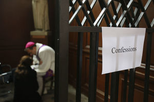 Holy confession during Easter week
