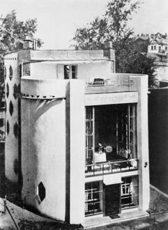The house of architect konstantin melnikov, in 10 krivoarbatsky pereulok, which he