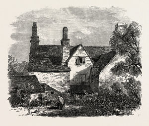 THE HOUSE IN WHICH SIR JOSHUA REYNOLDS WAS BORN, AT PLYMPTON, DEVON, UK, 1869