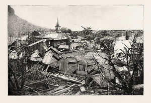 The Hurricane In Mauritius: Views Of The Ruins In Port Louis: Ruins Of The Western