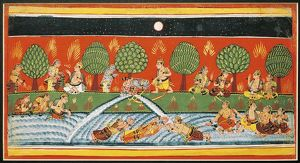 India, Page from the manuscript Bhagavat Purana from the Mewar School