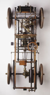 The innards of a 1904 automobile