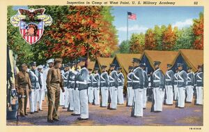 Inspection at West Point U.S. Military Academy. ca. 1941, North of New York, New York