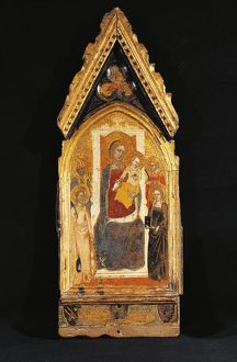 Italy, Asissi, Madonna and Child with Saints
