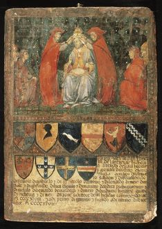 Italy, Biccherna's panel with the crowning of Pope Niccolo V