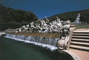 Italy, Campania Region, Caserta, Fountain of Venus and Adonis at Royal Palace