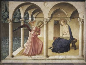 Italy, Florence, Annunciation painting