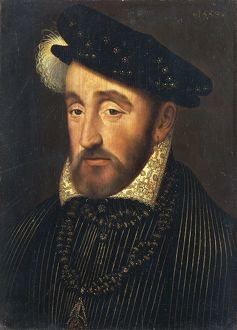 Italy, Florence, Portrait of Henry II of France (1519 - 1559), King of France (1547-1559)