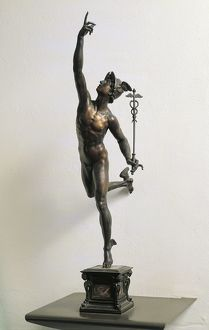 Italy, Florence, Tuscany region, bronze statuette replica of Flying Mercury