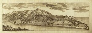 Italy, Genoa: view of Bisagno and Albaro hill, Engraving