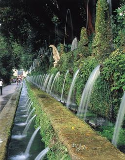 Italy, Latium Region, Rome Province, Tivoli, Villa d'Este, Fountain of a Hundred