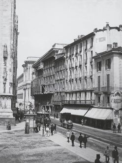 Italy, Milan, Bocconi Stores in Piazza Duomo in 1881