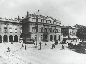 Italy, Milan, The Scala Theatre at beginning of 1900s, 20th Century