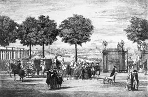 Italy, Milan, View of The Public Gardens from Porta Orientale, engraving, circa 1793