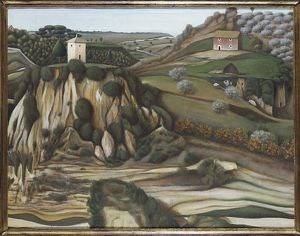 Italy, painting of The Plateau of the Parrot