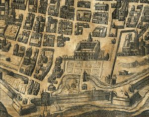 Italy, Piacenza, Map by Henricus van Schoel, engraving