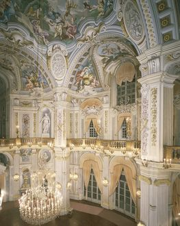 Italy, Piedmont Region, Turin Province, Stupinigi, Royal hunting lodge, Central Hall