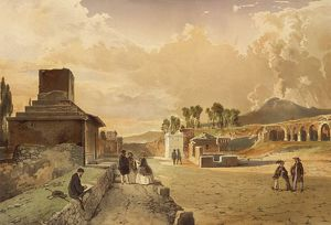 Italy, Pompeii, Street of Tombs by Fausto and Felice Niccolini, Vol. II, Table XXIX