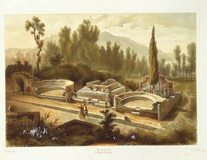 Italy, Pompeii, Street of Tombs by Fausto and Felice Niccolini, Volume II, Table VII