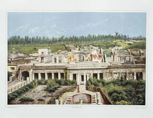 Italy, Pompeii,Villa of Diomedes by Fausto and Felice Niccolini, Volume II, Table VII