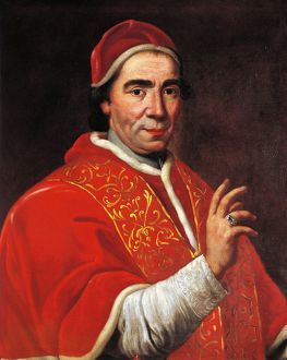 Italy, Portrait of Pope Clement XIV (1705 - 1774)