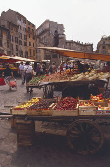 travel/italy rome campo de fiori markets fruit stalls