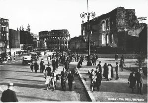 Italy, Rome, Via Dell' Impero with Colosseum in background, 1935