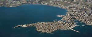 Italy, Sicily Region, Aerial view of Island of Ortigia in front of Syracuse