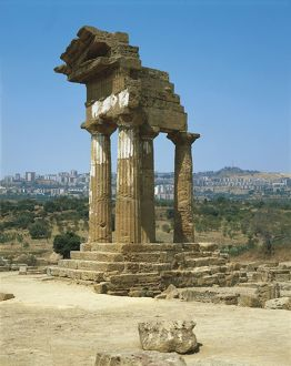 Italy, Sicily Region, Agrigento Province, Agrigento, Valley of Temples, Temple of Dioscuri