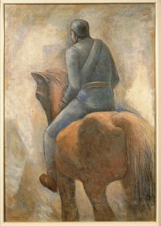 Italy, Soldier and horse, 1934