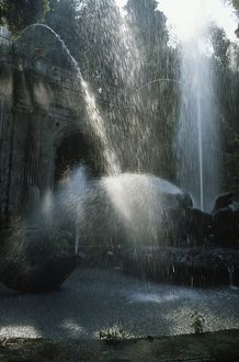 Italy, Tivoli, Fountain of the Dragons at Villa d'Este