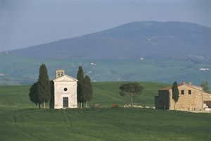 world heritage/building exterior/italy tuscany orcia valley artistic nature