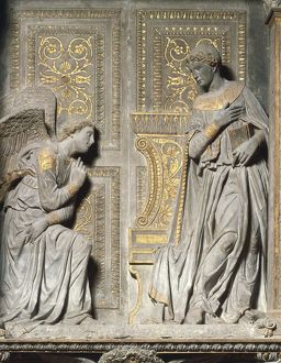 Italy, Tuscany Region, Florence Province, Florence, church of Santa Croce, annunciation