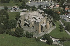 Italy, Valle d'Aosta, Aosta, Fenis, Valley of Clavalite, Fenis Castle