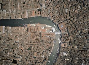 Italy, Veneto Region, Venice, Aerial view of Grand Canal