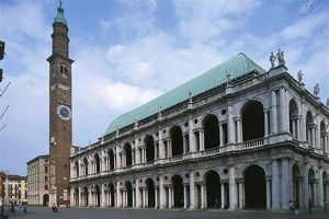 world heritage/building exterior/italy veneto vicenza palladian basilica tower