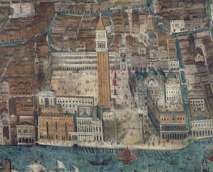 Italy, Venice, Piazza San Marco, illustration
