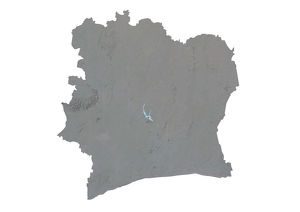 Ivory Coast, Relief Map