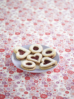 Jammy dodgers on a plate