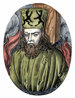 Jan Huss (1369-1415) Heretical Bohemian theologian. Burnt at Constance for preaching