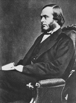 Joseh Lister (1827-1912), English surgeon and pioneer of antiseptic surgery, c1867