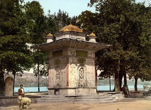Kucuksu Fountain in front of Bosporus Straits 1896 A.D