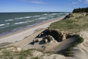 Latvia, Courland, Beach on Baltic Sea shore near Ventspils
