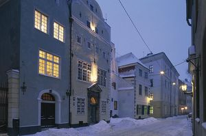 world heritage/building exterior/latvia riga historic centre vecriga tris brali