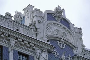 world heritage/building exterior/latvia riga historic centre vecriga elizabetes