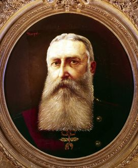 Leopold II (1835-1909) King of Belgium from 1865. Portrait by Pierre Tossyn