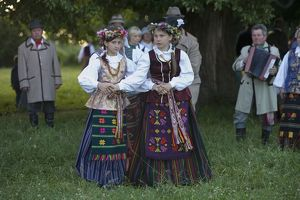 Lithuania, Vilnius County, Kernave, Midsummer's day celebration