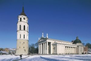 world heritage/building exterior/lithuania vilnius old town cathedral arkikatedra